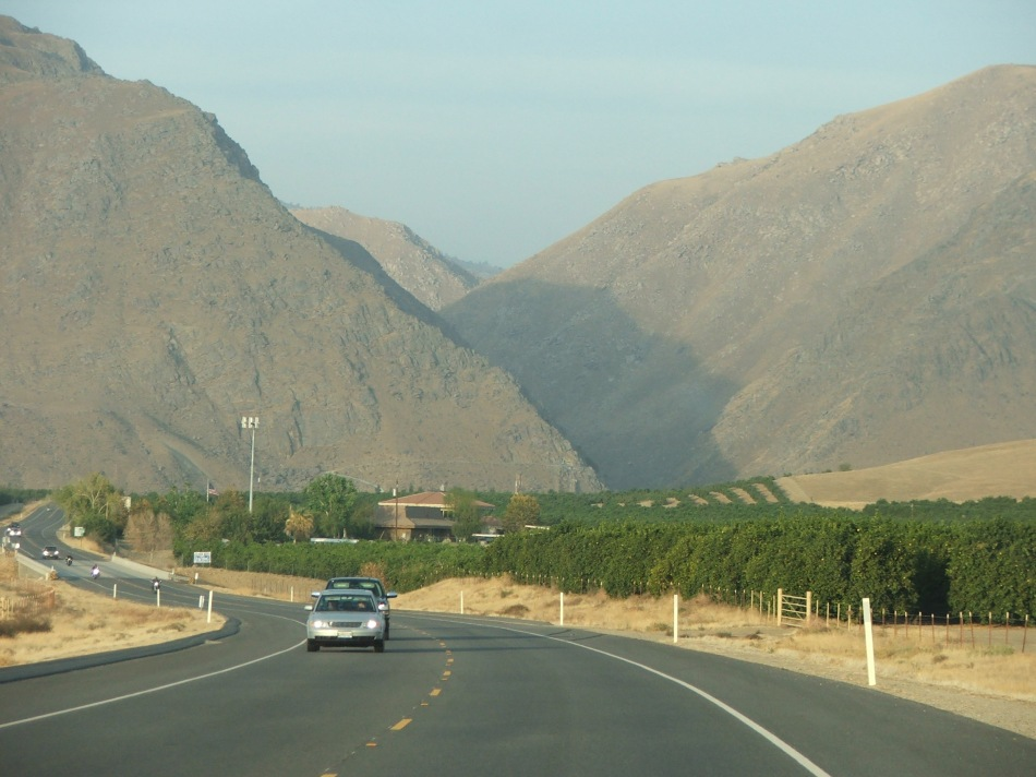 Kern Canyon which leads to Lake Isabella
