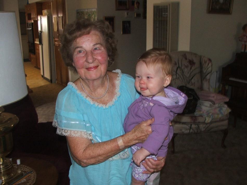 Grandma Violet and....Violet!