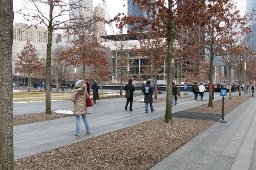 Area around the memorials