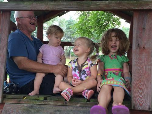 grandpa kids laughing